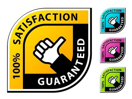 quality guarantee: vector thumb up satisfaction guaranteed labels