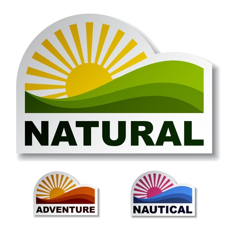 natural paper: Natural adventure nautical stickers