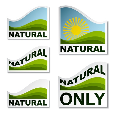 Natural landscape stickers Stock Vector - 12486207