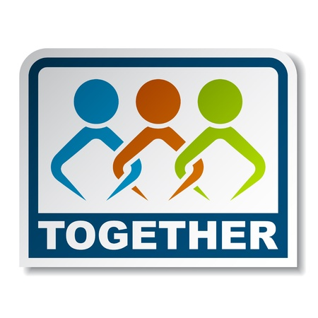joined: Together joined people sticker