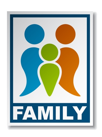 Family symbol sticker Vector