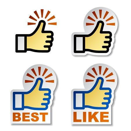 thumbs up business: El pulgar para arriba pegatinas de mano