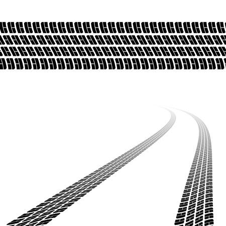 car tire: Trace van de banden Stock Illustratie