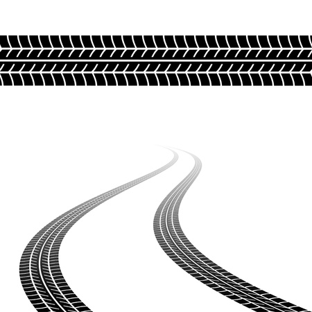 car tracks: Trace of the tyres Illustration