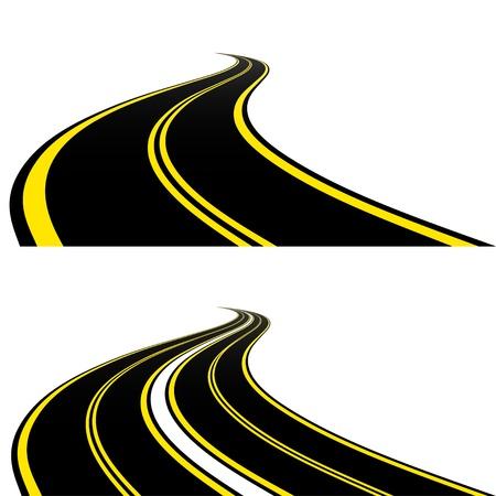 curvas: Carreteras Vectores