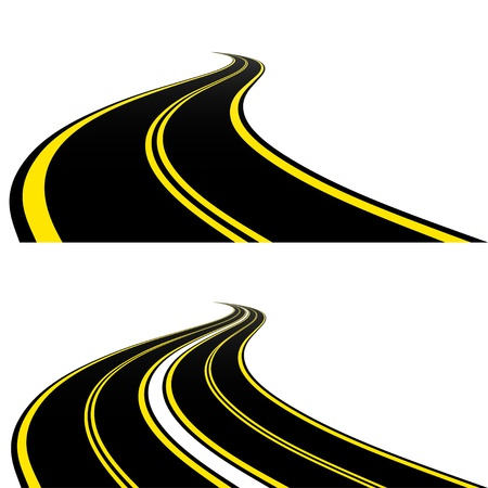 curve of the road: Roads Illustration