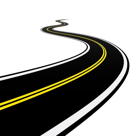 road marking: Winding road
