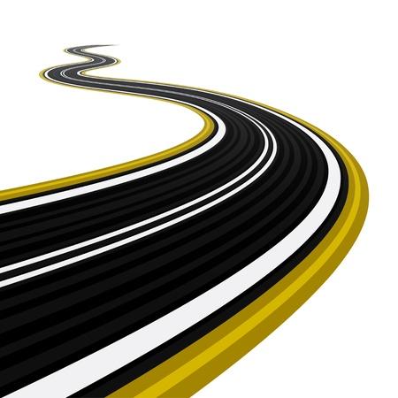 bitumen: Winding road