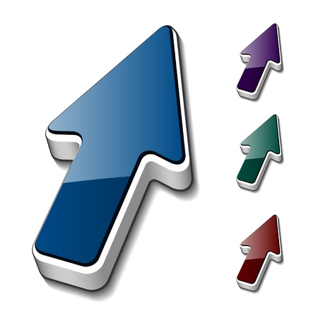 klik: vector 3d pijlcursors