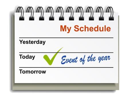 vector tear-off day calendar Stock Vector - 13540324