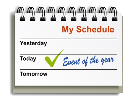 event planning: vector tear-off day calendar Illustration