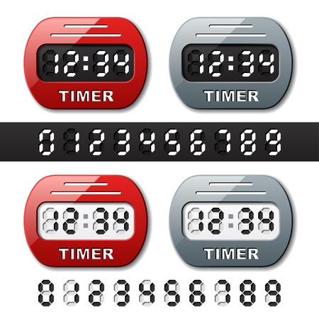 vector mechanical counter - countdown timer Stock Vector - 13540335