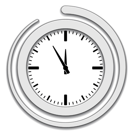 clockwise: Vector clock face icon