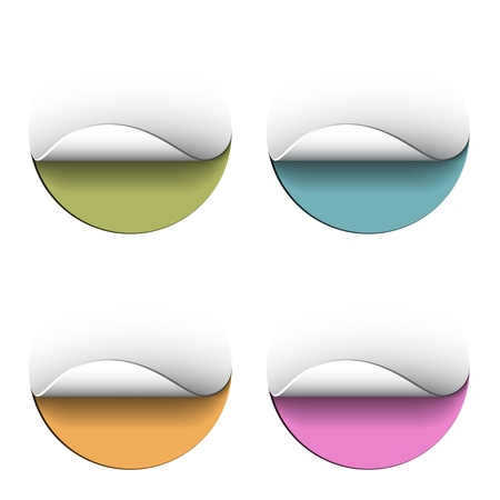 vector blank peeling circle stickers Vector