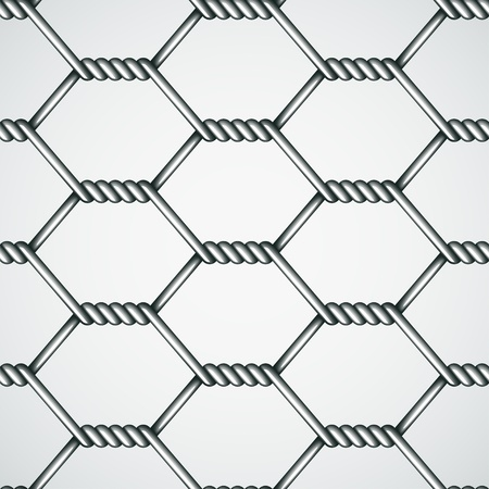 metal mesh: vector chicken wire seamless background