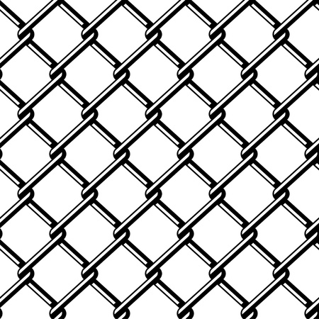 vector wire fence seamless black silhouette Stock Vector - 13540305