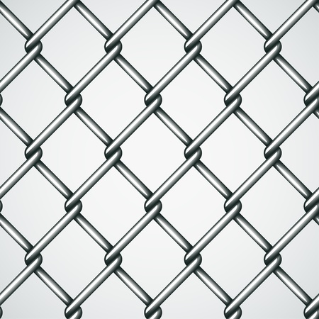 chain fence: vector wire fence seamless background