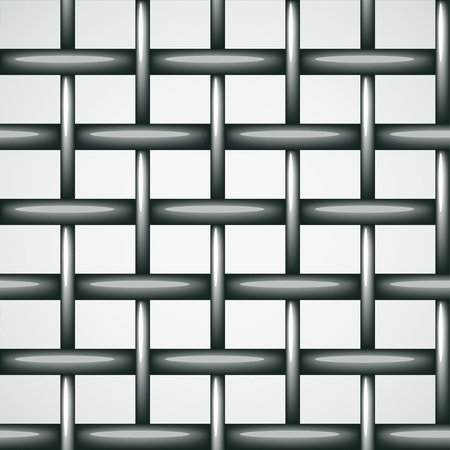 metal drawing: vector wire fence seamless background