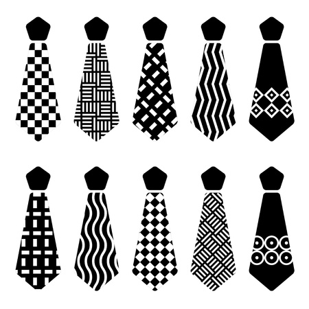 vector tie black silhouettes Vector