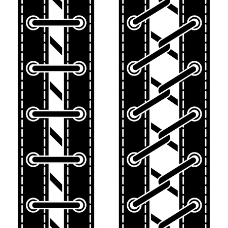 vector shoe lace seamless symbols Vector
