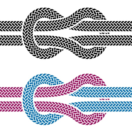 vector climbing rope knot symbols Stock Vector - 13540331