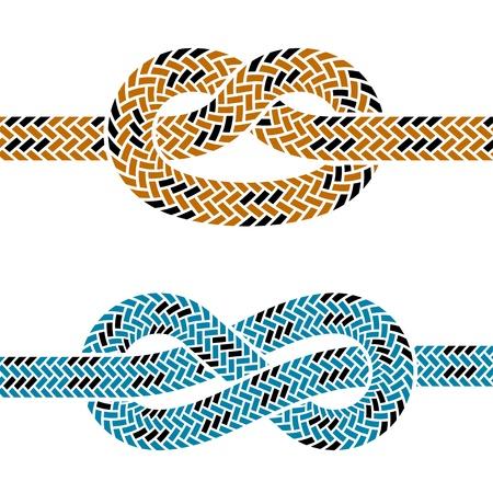 結び目: クライミング ロープ結び目シンボル ベクトル