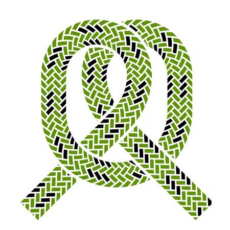 vector climbing rope knot symbol Vector