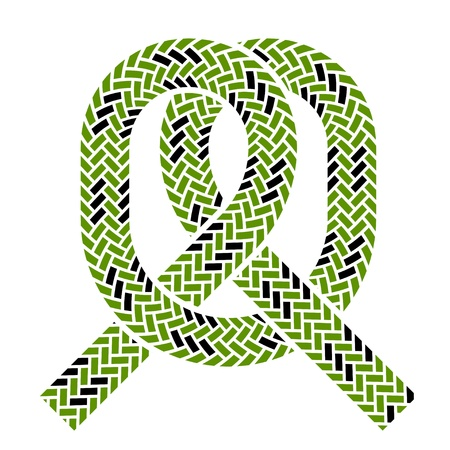pulling rope: vector climbing rope knot symbol