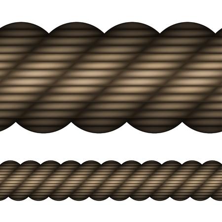vezels: vector naadloze touw Stock Illustratie