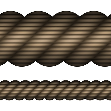 rope vector: vector seamless rope