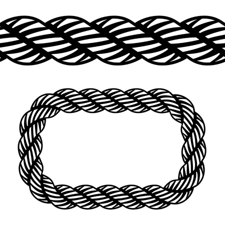 vector seamless black rope symbol Vector