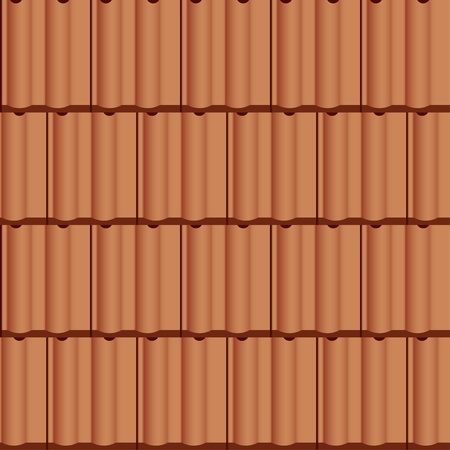 ceramic: vector roof tile seamless background