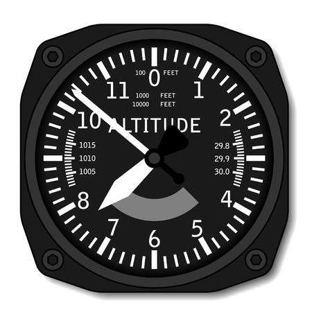 pilot cockpit: vector aviation airplane altimeter