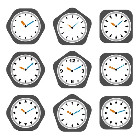 vector clock icons Vector