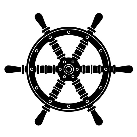 steering: nautical boat steering wheel silhouette