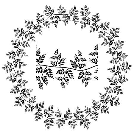 vector seamless ornamental leaf frame Stock Vector - 14941342