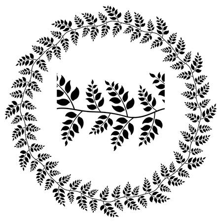 seamless ornamental leaf frame Stock Vector - 14941318