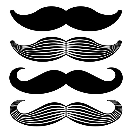 male grooming: mustache vintage black icons