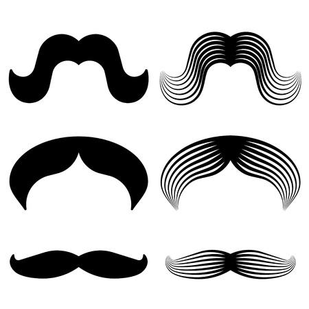 hair mask: mustache vintage black icons