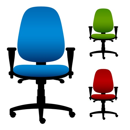 arm chair: vector office chairs Illustration
