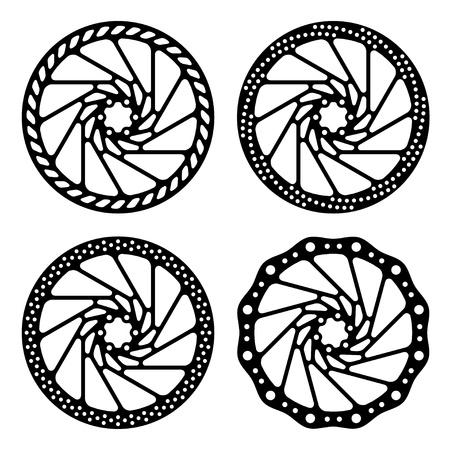 frenos: bicicleta de freno de disco negro silueta