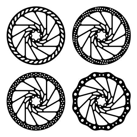 bike wheel: bike brake disc black silhouette
