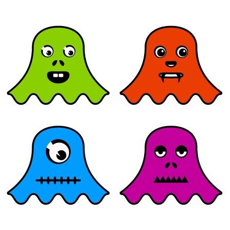 cute ghost: vector cute ghost monsters