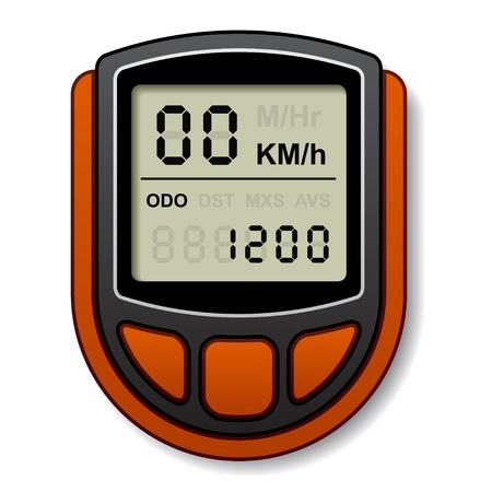 vector bicycle speedometer computer Stock Vector - 14940866