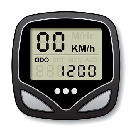 bicycle speedometer computer Stock Vector - 14941154
