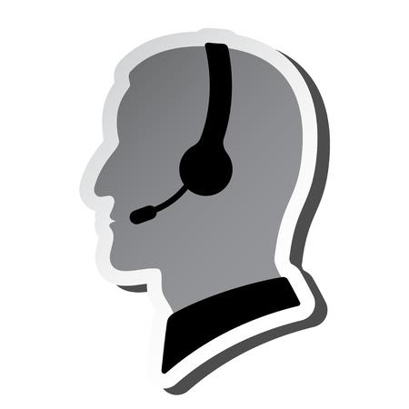 headset business: chiamare persona silhouette centro