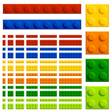 plastic bricks: vector children plastic bricks toy