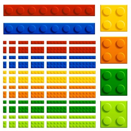 vector children plastic bricks toy Stock Vector - 14941405