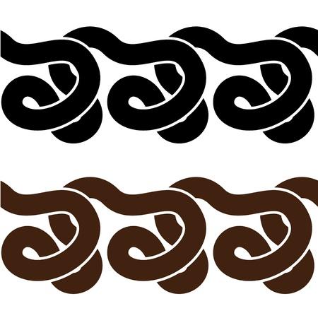 wriggle: snake seamless silhouettes Illustration