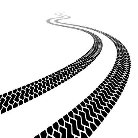 winding trace of the terrain tyres Stock Vector - 14941404